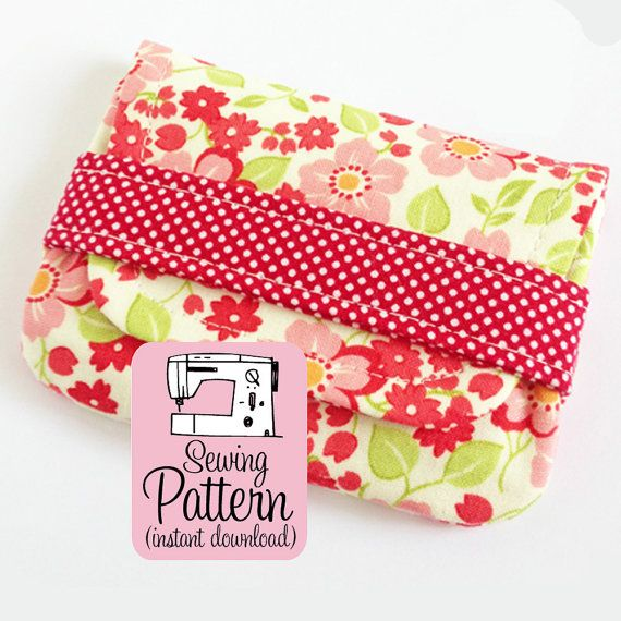 PLEASE NOTE: PDF SEWING PATTERN ONLY.  Sew two card size wallets, plus one larger bonus pouch size, using this simple SEWING PATTERN.  Because these are quick to make and use only the smallest amount supplies, this is an excellent pattern to have on hand for sewing a last minute gift, or to make things to sell in your online shop or at your craft shows. The two card wallet sizes are just the right size for business cards, debit/credit cards, or gift cards. The larger bonus pouch size is ...