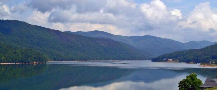 Watauga Lake-(TVA Reservoir)-East of Johnson City and Elizabethton.