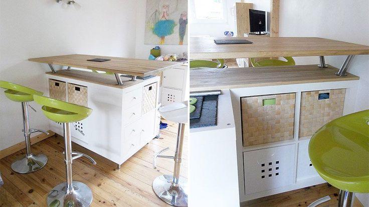 20 Idees D Ilots De Cuisine A Fabriquer Ikea Etagere Ikea Ilot Cuisine