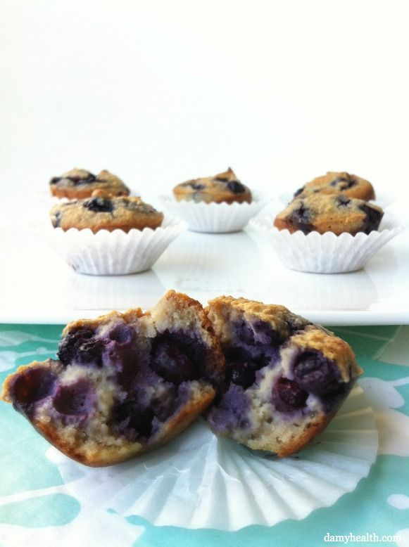 The Best Almond Flour Blueberry Muffins | Amy Layne Paradigm Blog...sooooo good!!!