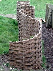 curvy willow fence