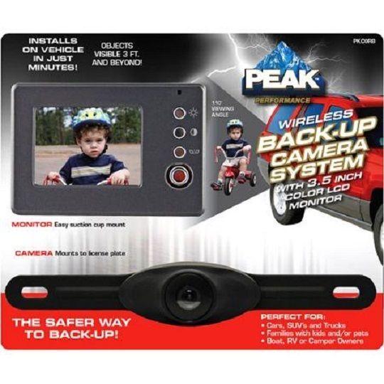 "PEAK Wireless Back-up Camera System 3.5"" Color LCD Monitor PKCORB #PEAK"