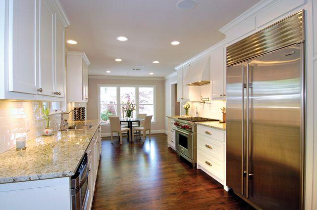 Best 25 open galley kitchen ideas on pinterest galley for Galley kitchen designs with peninsula
