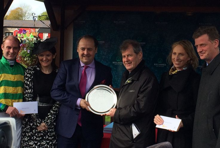 Killashee Presentation at Punchestown Festival to the winner of our sponsored race #KillasheeRacing