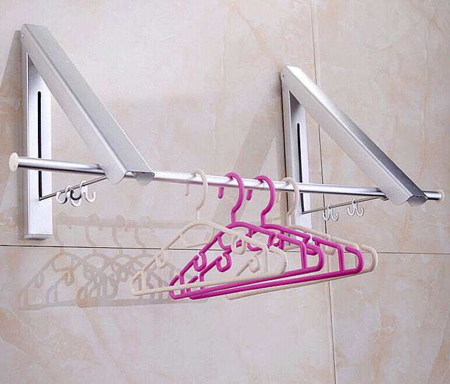 New Wall Mounted Space double Aluminum Clothes Drying Hanger Foldable Laundry Rack with promotion price-in Sanitary Ware Suite from Home Improvement on Aliexpress.com | Alibaba Group