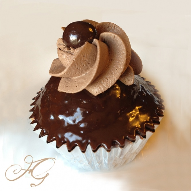 Dark Chocolate Espresso Wake Up Cupcakes | Sweets For The Sweet | Pin ...