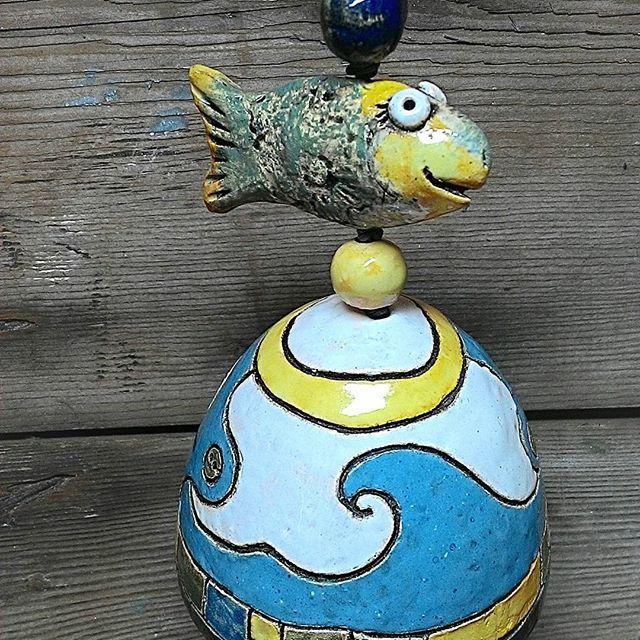 #керамика #глазурь #ручнаяработа #колокольчик #рыбка #глина #авторскаякерамика