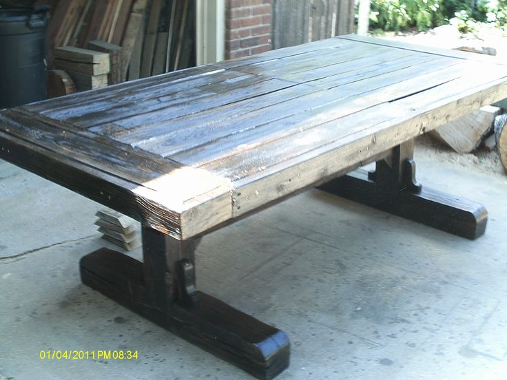 Handmade Rustic   Log Furniture  100  x 46  x 30  Reclaimed Barnwood. Best 25  Barnwood dining table ideas only on Pinterest   Kitchen