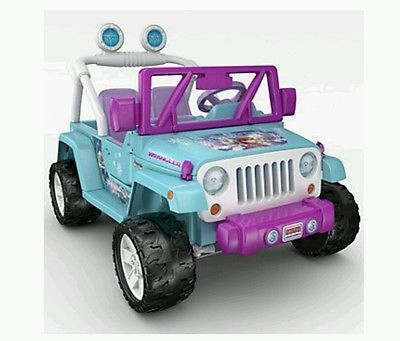 kids electric car girls frozen power wheels jeep wrangler baby children play toy