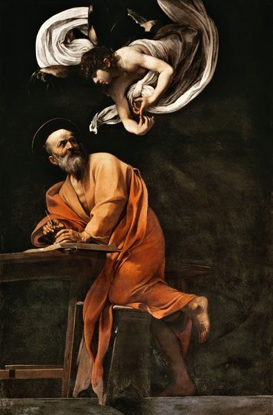 "Caravaggio ""St. Matthew and the Angel"", 1602 (Italy, Baroque, 17th cent.)"