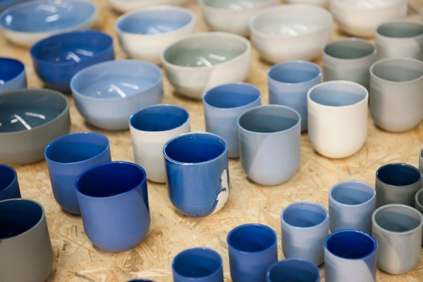 beautiful display of tableware from Dutch Design Week