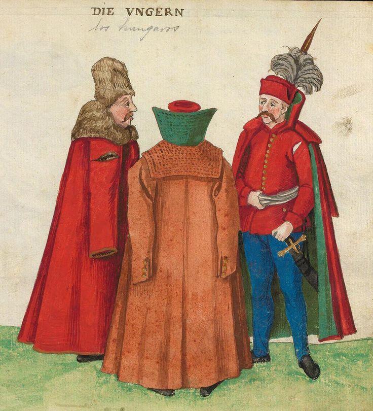 Códice De Trajes, 1547  DIE VNGERN Hungarians