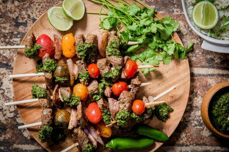 Smoky Coriander Salsa Beef Skewers - Make delicious beef recipes easy, for any occasion