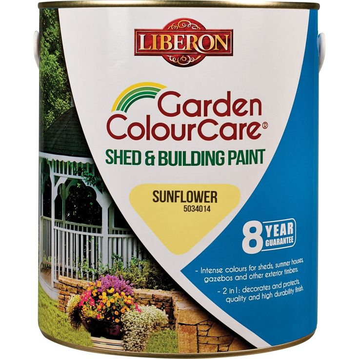 Liberon Shed and Building Paint 2.5L Sunflower