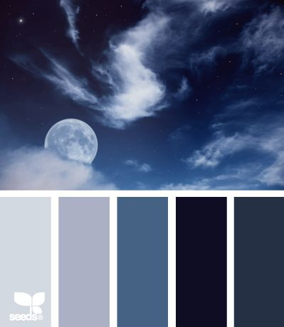 night blues (would love to use this palette for a beading project)
