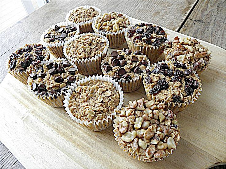 Baked oatmeal - toppings can be personalized