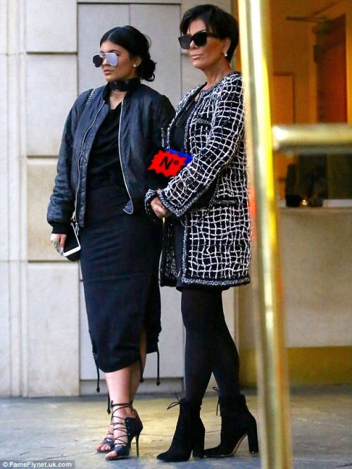 Kylie Jenner taking style lessons from mom Kris Jenner with these two all black outfits