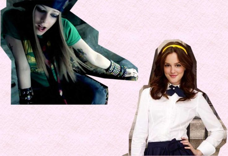 Weekly Crossover: Skater Chic x Preppy School Girl. Avril Lavigne meets Blair…