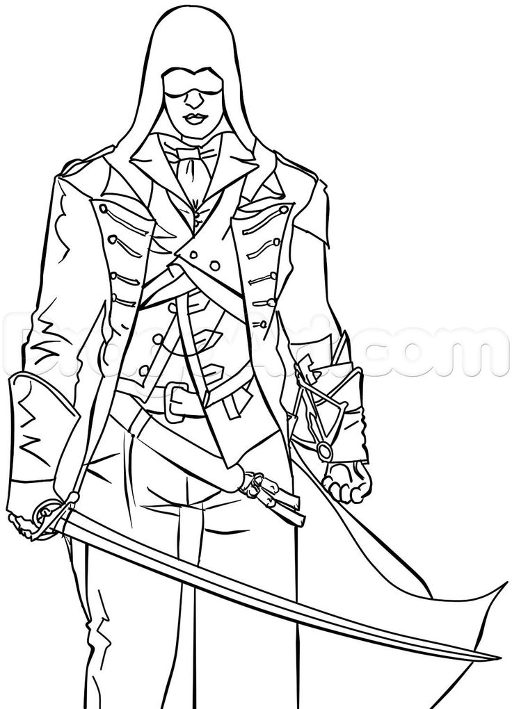 Line Drawing Unity : Best images about coloriage assassin s creed on