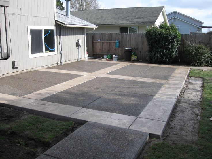 Concrete Patio Ideas | Back Yards, Especially Concrete Patios, Are Being  Transformed Into .