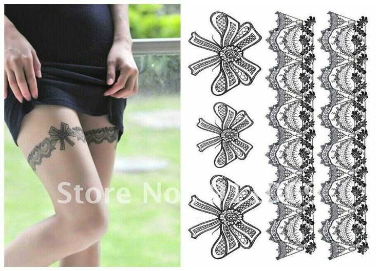 Lace garter tattoos