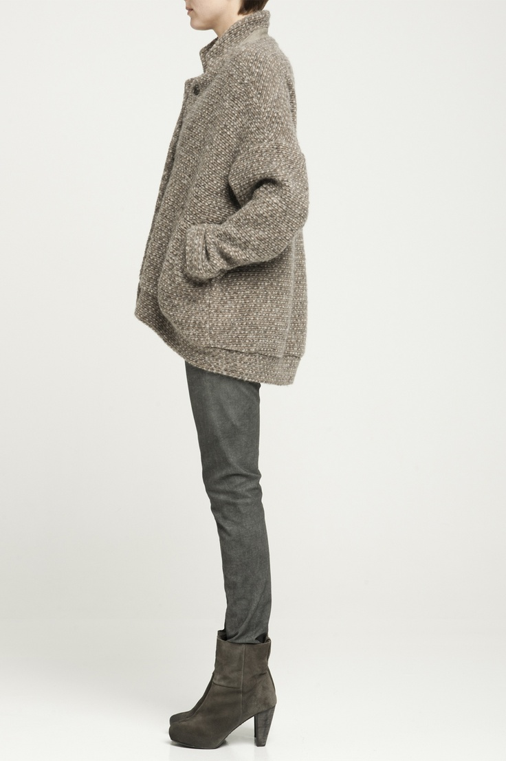 Humanoid | Wool Jacket w Leather Detail