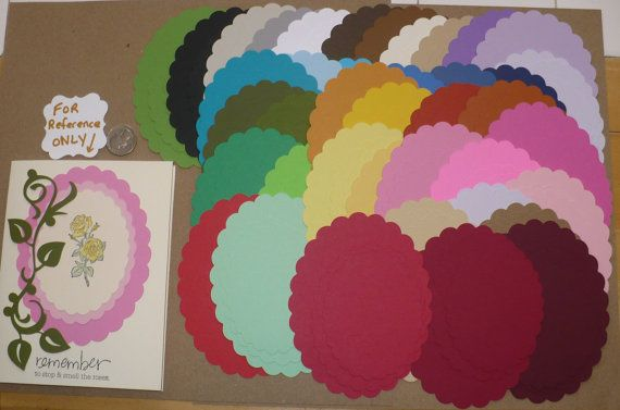 114 PC Scallop Oval Shapes Rainbow 3 Sizes by sandylynnbscrapping, $5.00