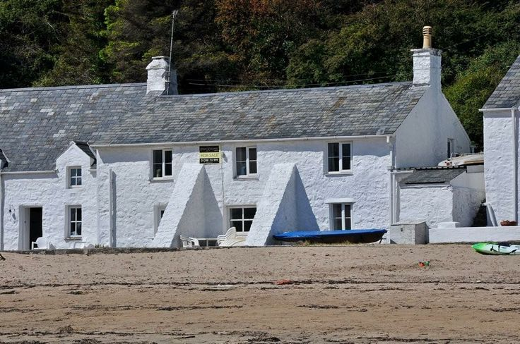 Typical beach house at Nefyn
