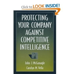 A good book on counterintelligence, which also explains the ramifications of the Espionage Act of 1996 by Carolyn Vella & John McGonagle.