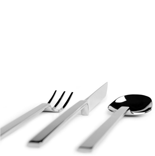 Silverware Flatware Cutlery designed by John Pawson for When Objects Work
