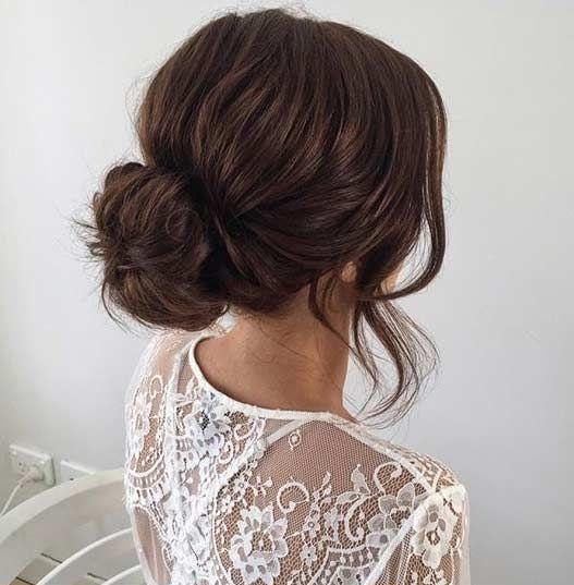 Best 25+ Simple wedding updo ideas on Pinterest   Chignon ...
