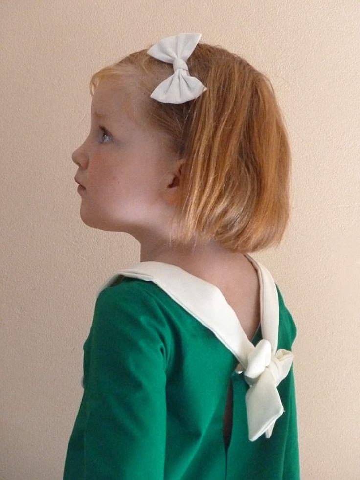 robe marine à manches trois quarts