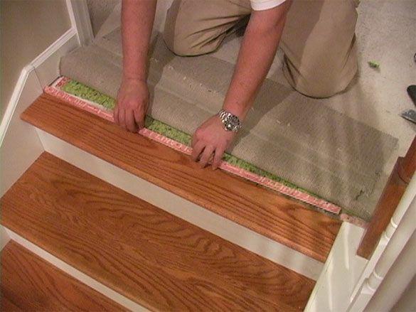 Landing Tread To Carpet In 2019 Carpet Stairs Diy