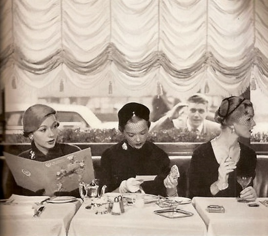 Ladies who lunch. Photographer unknown.