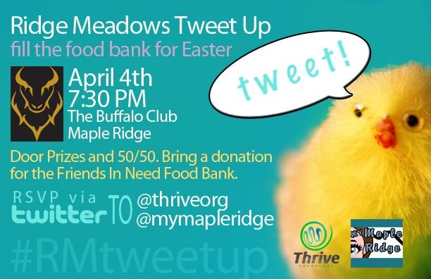 Next Ridge Meadows Tweet Up April 4, 2012