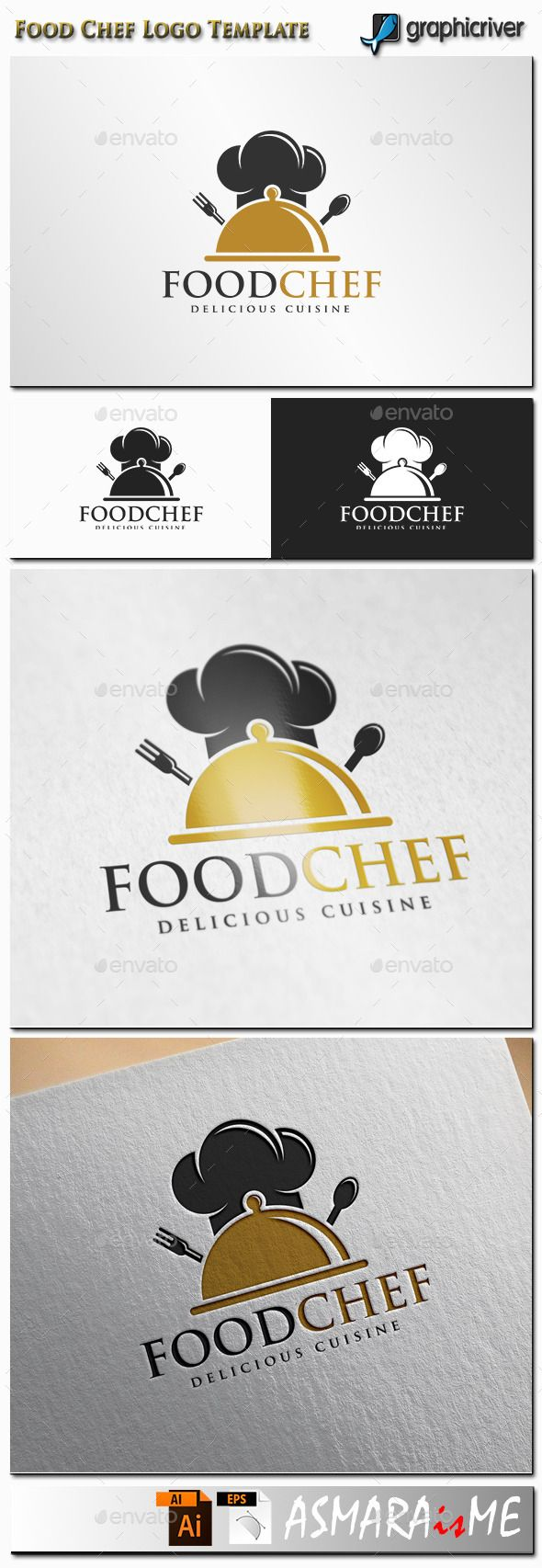 Food Chef Logo — Vector EPS #crest #food • Available here → https://graphicriver.net/item/food-chef-logo/11361336?ref=pxcr