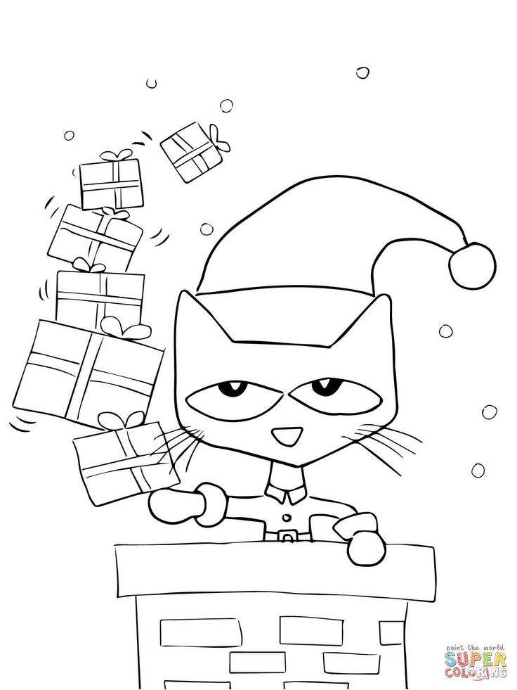 Pete The Cat Saves Christmas Super Coloring December
