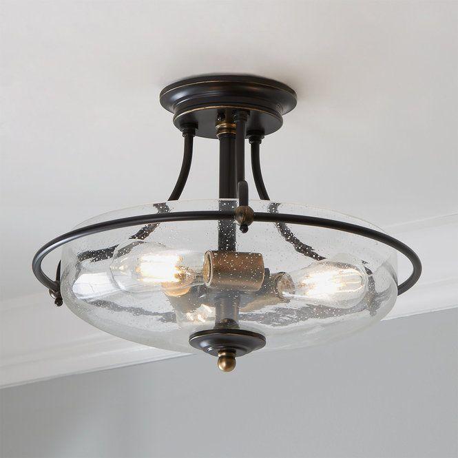 Griffin Semiflush Ceiling Light Ceiling Lights Glass Flush