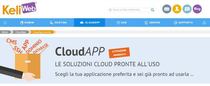 Soluzione #Cloud pronta all'uso, scopri il servizio adeguato per la gestione del tuo sito web realizzato con #Joomla. Parametri #hosting già configurati, ottieni in pochi minuti il tuo ambiente di sviluppo