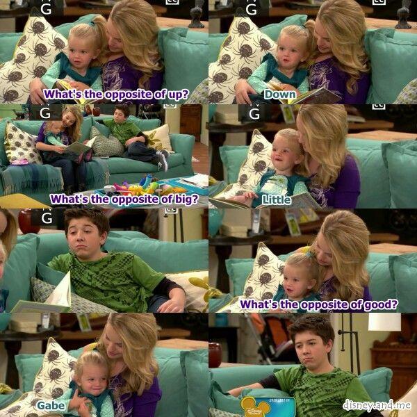 Disney Channel Good Luck Charlie. Opposites. Teddy Duncan, Gabe Duncan and Charlie Duncan. Bridgit Mendler, Bradley S Perry and Mia Talerico.