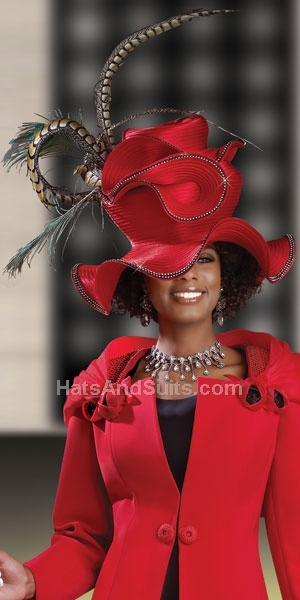 But how can you see Pastor over the hats? Donna Vinci Couture Church Hat