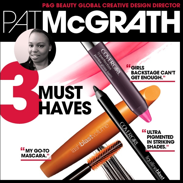A makeup artist needs her toolbox! Repin if you love Pat's COVERGIRL faves too!