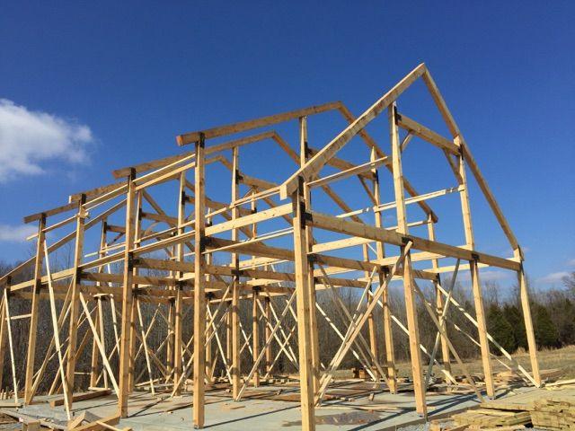 36x50 Gable Barn Plans Barn Plans Barn Shed Roof