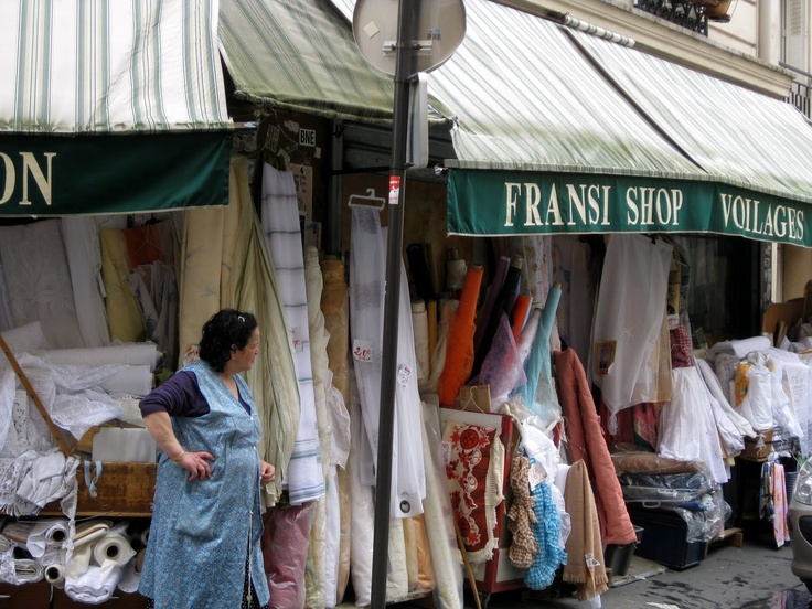 fabric district paris | briefly went into this woman's shop; she was chatting away with her ...