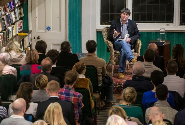 Simon Armitage talks about his poetry anthology, Paper Aeroplane, at a London bookshop.