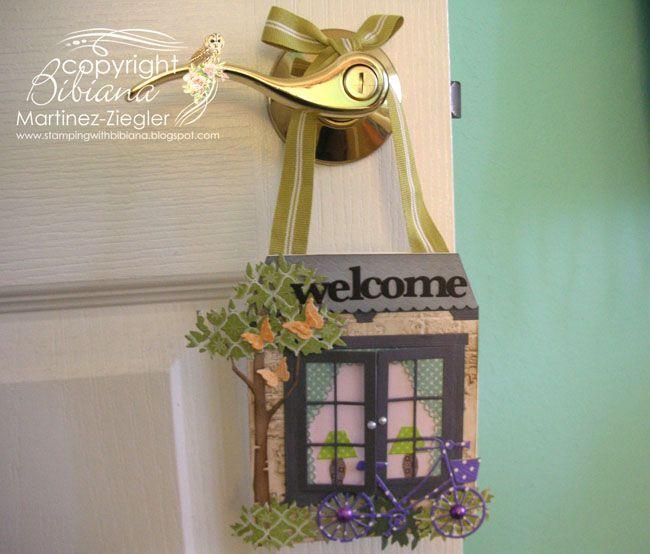 Welcome Door Knob hanger/tag by BMZ - Cards ... | Paper Crafts - Vari ...