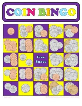 CANADIAN Adding Coins Bingo Cards - 30 Unique Cards! Money Math, Games, Coin Addition, Coin Counting. There is also an American version.