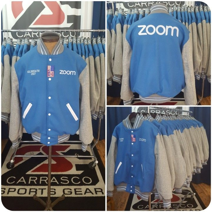 Zoom Video Communications custom award jacket #carrascosportsgear