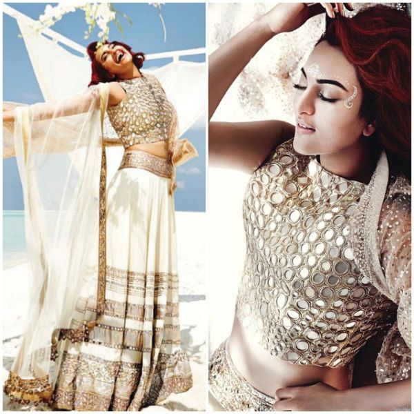 Miss Sunshine #SonakshiSinha on the cover photo of Harper's Bazaar