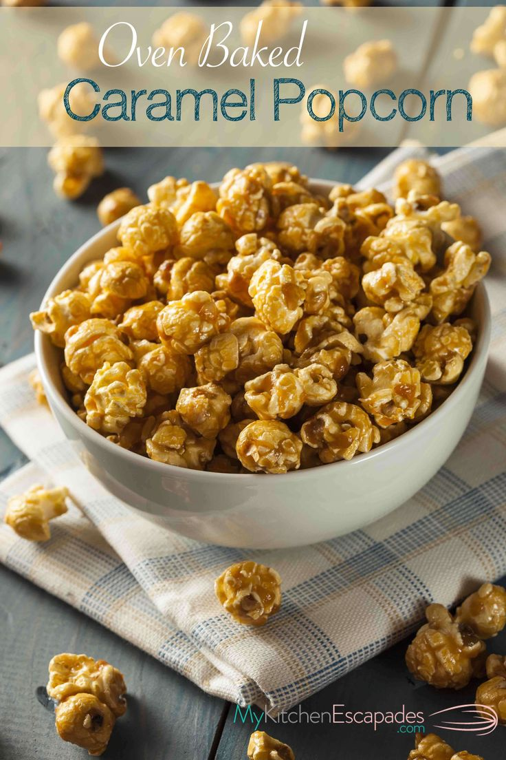 This is the BEST homemade caramel popcorn recipe you will every try! So simple and baked in the oven until it is crisp and crunchy perfection from scratch